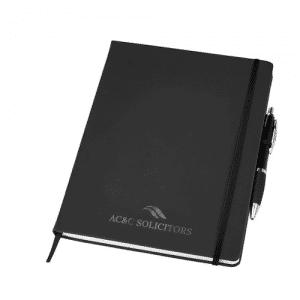 Branded Large Noir Notebook - Totally Branded