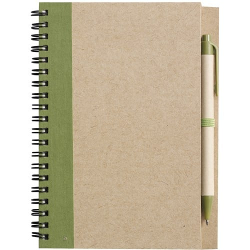 Green Eco Freindly Branded Notebook - Totally Branded