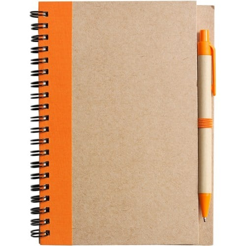 Personalised Recycled Logo Notebooks with Pen - Totally Branded