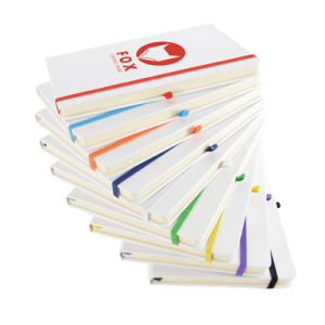 A5 White Notebook Colours - Totally Branded