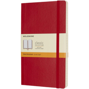 Classic L soft cover notebook Red - Totally Branded
