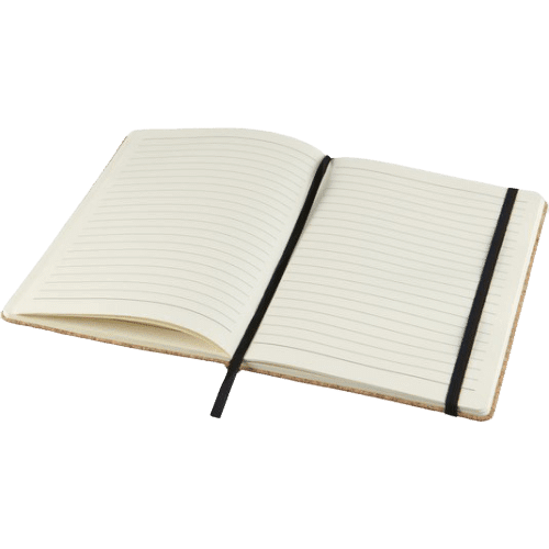 Napa A5 Cork Notebook Open - Totally Branded