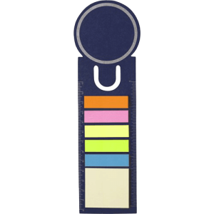 Bookmark and Sticky Notes Blue - Totally Branded