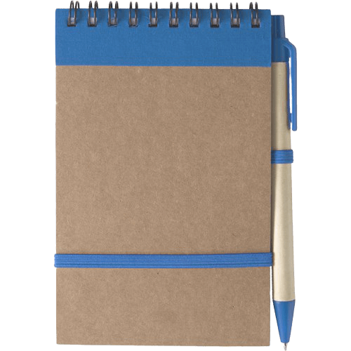 Branded Recycled Notebook Blue - Totally Branded