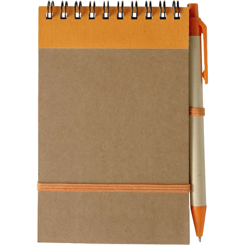 Branded Recycled Notebook Orange - Totally Branded