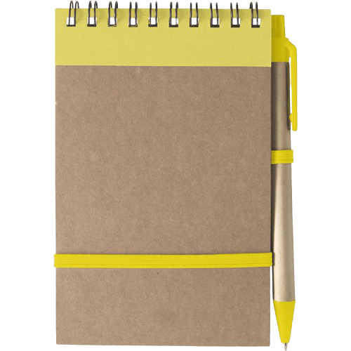 Branded Recycled Notebook Yellow - Totally Branded