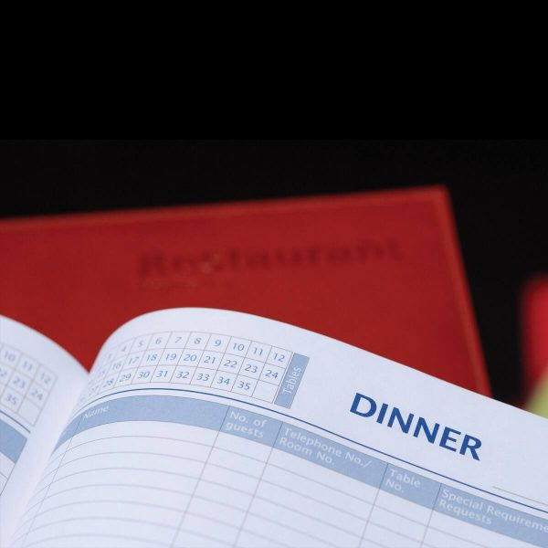 Custom Branded Restaurant Booking Diary - Rapid Notes