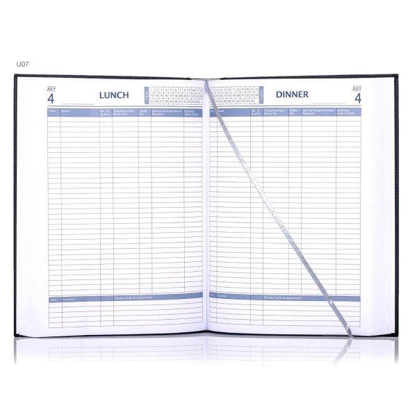 Inside branded restaurant booking diary