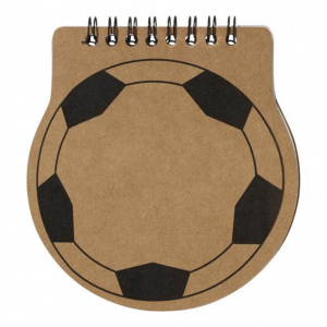 Branded football notebook