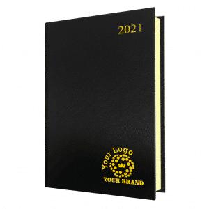 FineGrain Daily Diary Black - Quarto Size
